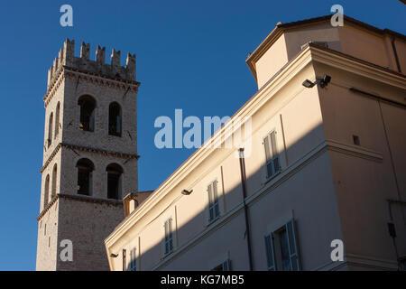 Palazzo del Comune, Assisi, Umbria, Italy - Stock Photo