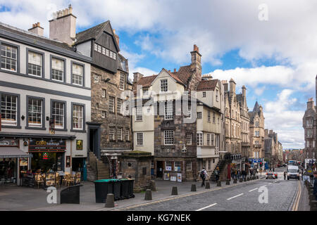 John Knox House, John Knox's House, historic 16th century house, High Street, Edinburgh, Scotland, UK - Stock Photo