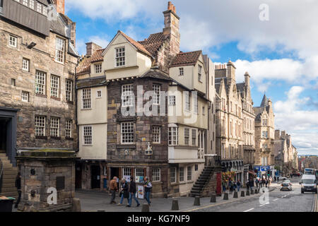 John Knox House, John Knox's House, historic 16th century house, Edinburgh, Scotland, UK - Stock Photo