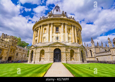 Radcliffe Camera, room addition to the Bodleian Library in Oxfor - Stock Photo