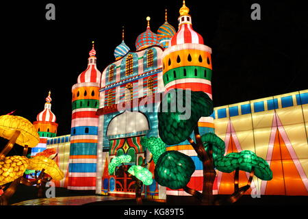 Longleat Festival of Lights 2017 Opening Day - Stock Photo