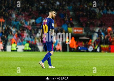 Barcelona, Spain. 04th Nov, 2017. November 4, 2017 - Barcelona, Barcelona, Spain - (10) Messi (delantero) during - Stock Photo