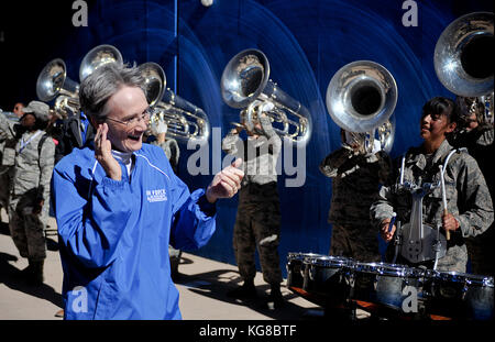 November 4, 2017: United States Secretary of the Air Force, Heather Wilson, enjoys pre-game festivities with the - Stock Photo