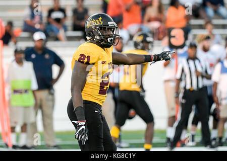 Daytona Beach, FL, USA. 4th Nov, 2017. Bethune Cookman Wildcats running back Michael Jones (21) during NCAA Football - Stock Photo