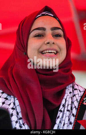 London, UK. 4th November, 2017. Leanne Mohamad, a 17-year-old British Palestinian school pupil who was the victim - Stock Photo