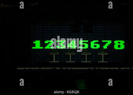 Turin, Italy, 04th november 2017 german electro band Kraftwerk perform live a 3d show Credit: Daniele Baldi/Alamy - Stock Photo