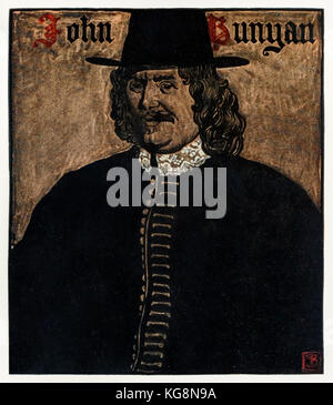John Bunyan (1872-1919) author of 'The Pilgrim's Progress From This World, To That Which Is To Come', illustration - Stock Photo