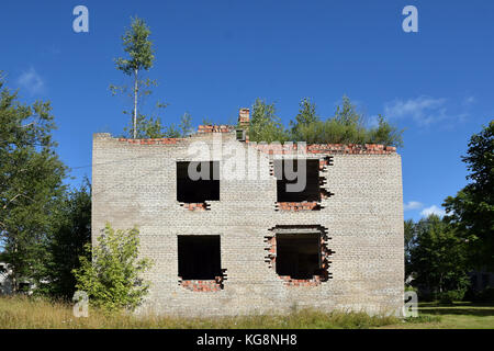 The city of Sirgala is a ghost place since the USSR collapse and the end of the oil shale mine. - Stock Photo