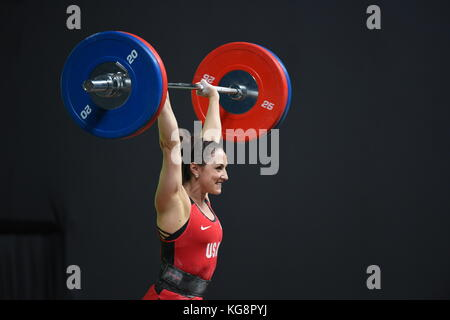 Rio de Janeiro-Brazil, April 10, 2016 preparation test for Olympic Games 2016- Weight Lifting - Stock Photo