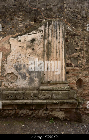 Pompeii ruins exhibited after archaeological excavations - Stock Photo
