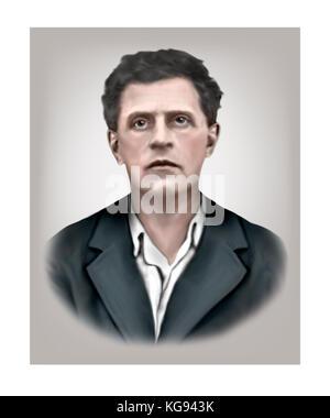 Ludwig Wittgenstein, 1889 - 1951, Austrian British Philosopher - Stock Photo