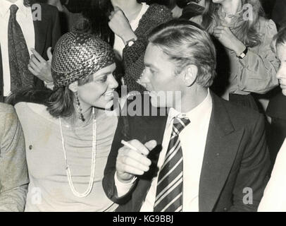 Actors Helmut Berger and Ornella Muti - Stock Photo