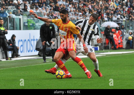 Turin, Italy. 5th November, 2017. during the Serie A football match between Juventus FC and Benevento Calcio at - Stock Photo