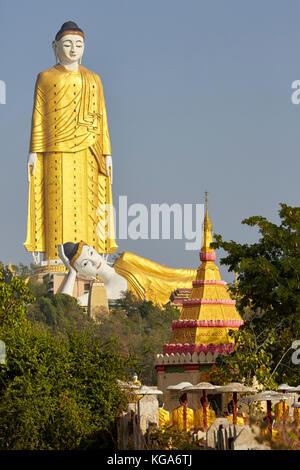 Maha Bodhi Tahtaung, Bodhi Tataung, Buddha, Monywa, Myanmar - Stock Photo