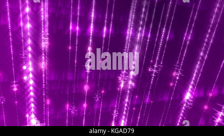 An astonishing 3d rendering of an abstract multilayered violet background with numerous glowing white rays in a - Stock Photo