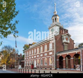 Independence Hall, Independence National Historic Park, Philadelphia, Pennsylvania, USA - Stock Photo