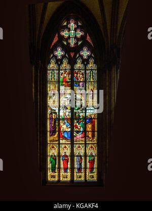 La sainte Chapelle,Paris : 19th century stained glass - Stock Photo