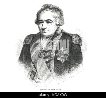 Admiral of the Fleet, Sir John Jervis, 1st Earl of St Vincent, 1735–1823 - Stock Photo