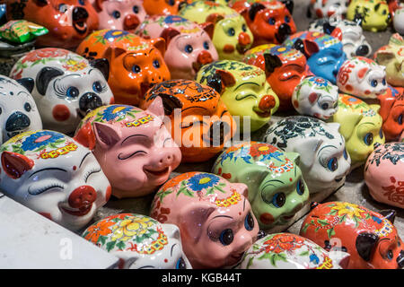 money banks in Hanoi store - Stock Photo