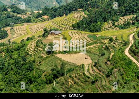 Dong Van (Ha Giang) Vietnam - Trekking - Stock Photo
