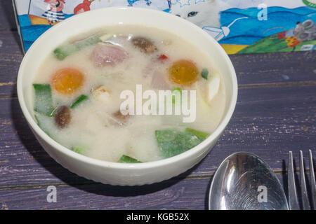 Pai, Thailand - Xhale Yoga Retreat Food - Stock Photo