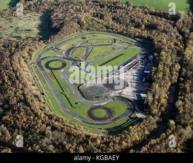 aerial view of a go carting track - Stock Photo