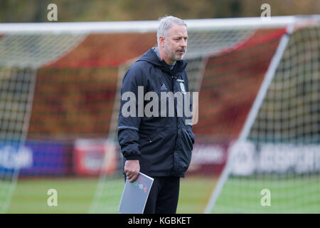 Hensol, Wales, UK. 6th November 2017. Wales coach Kit Symons during Wales national team training ahead of a friendly - Stock Photo