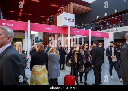 London, UK. 6th November 2017. Excel London,  World Travel Market London is the leading global event for the travel - Stock Photo