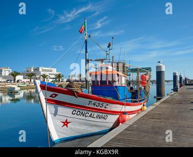 Santa Luzia, near Tavira, Algarve, Portugal, - Stock Photo