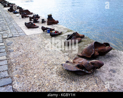 Shoes on the Danube Bank - Stock Photo