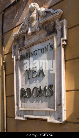 Opened in 1893 and still going today. Situated at the foot of the Spanish Steps. Babington's Tea Rooms, Rome, Italy, - Stock Photo