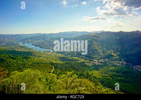 Geres, Portugal summer mountain landscape - Stock Photo