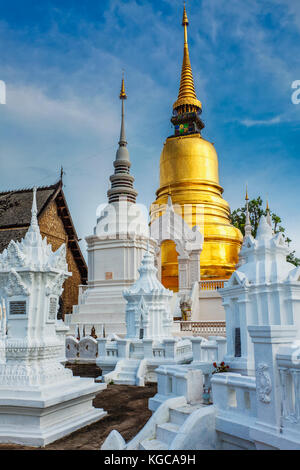 Wat Suan Dok temple, Chiang Mai, Thailand - Stock Photo