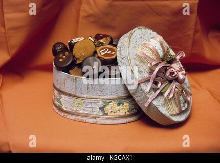 Box of Chocolates in luxury design 2004 - Stock Photo