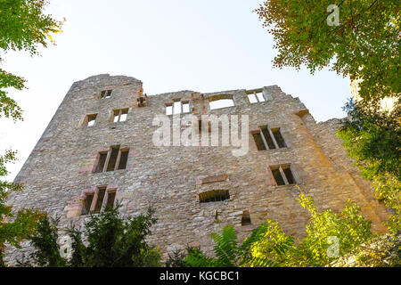 outer view of the Old Castle Hohenbaden of the spa town Baden-Baden, Germany