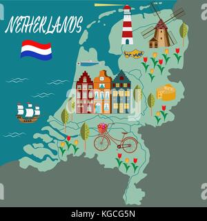 holland netherlands amsterdam rotterdam map atlas map of the