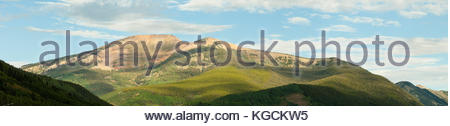 Mount Emmons also known as The Red Lady in western Colorado near Crested Butte on a summer morning. - Stock Photo