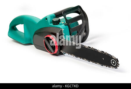 electric saw isolated on white background - Stock Photo
