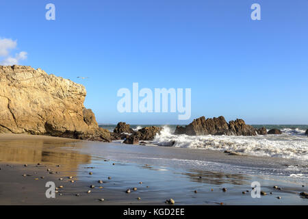 peaceful afternoon at Leo Carrillo State Beach, Malibu California - Stock Photo