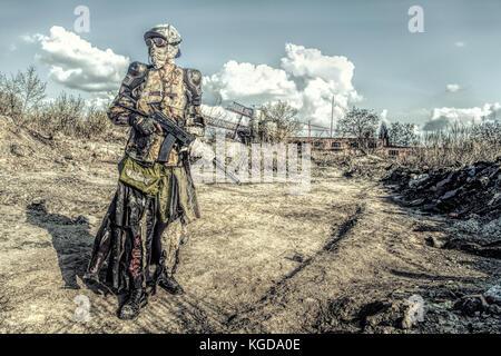 Post apoc beast survivor - Stock Photo