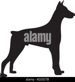 silhouette of a dogvector illustration of doberman pinscher stock photo