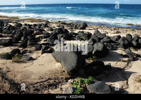 Mokuleia beach - Oahu, Hawaii - Stock Photo