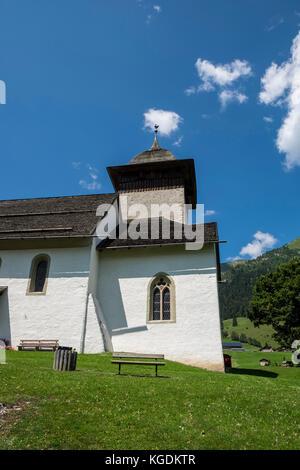 Switzerland,Canton Vaud,Chateau d'Oex,local church