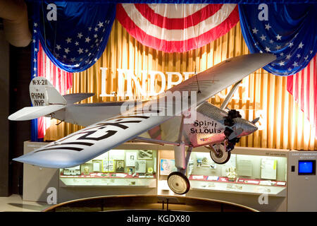 Wisconsin, USA, Oshkosh, Air Venture Experimental Aviation Association (EAA) Museum, The 'Spirit of St. Louis' Charles - Stock Photo
