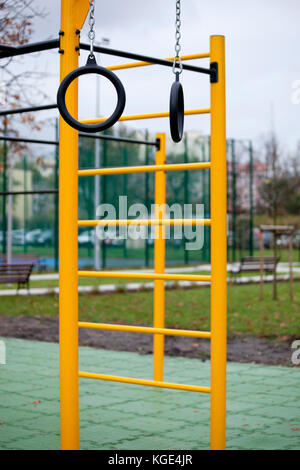 Outdoor gym for street workout - Stock Photo
