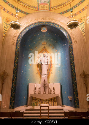 Our Lady of Siluva Chapel inside the Basilica of the National Shrine of the Immaculate Conception, Washington DC, - Stock Photo