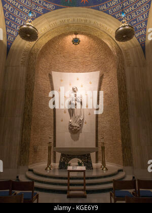 inside the Basilica of the National Shrine of the Immaculate Conception, Washington DC, United States. - Stock Photo