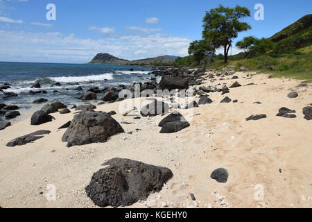 Nanakuli Beach - Oahu, Hawaii - Stock Photo