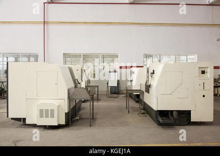 equipment and machines for cutting and processing of metal profiles - Stock Photo