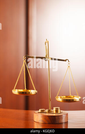 Decorative Scales of Justice. Law and justice concept. - Stock Photo